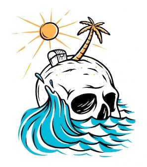 Ilustración de la isla del cráneo