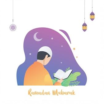 Ilustración islámica de ramadán