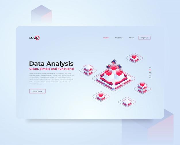 Ilustración isométrica análisis de datos