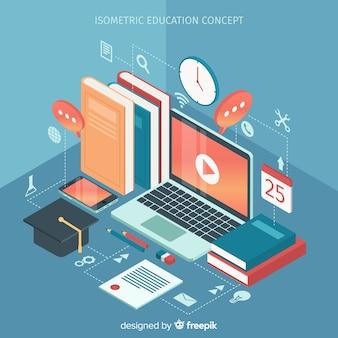 Ilustración isométrica concepto educación