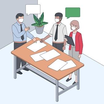 Ilustración isométrica del día de trabajo