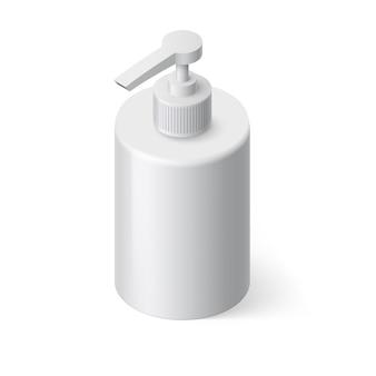 Ilustración isométrica de jabón líquido