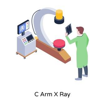 Una ilustración isométrica de rayos x del brazo c