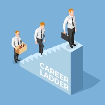 Ilustración isométrica de reclutamiento