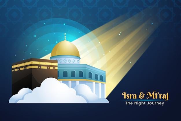 Ilustración de isra miraj