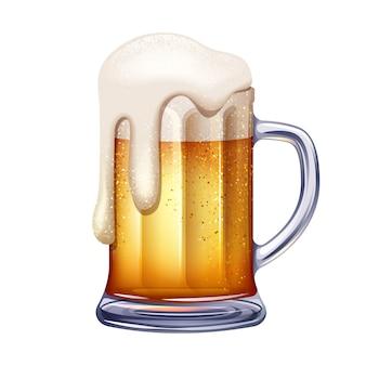 Ilustración de jarra de cerveza.