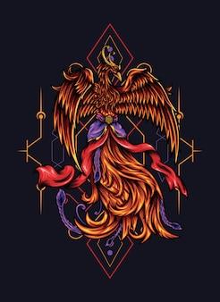 Ilustración de java phoenix