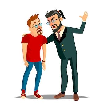 Ilustración de jefe enojado