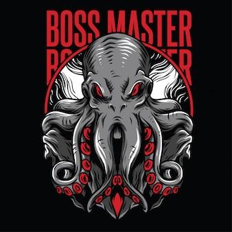 Ilustración de jefe maestro