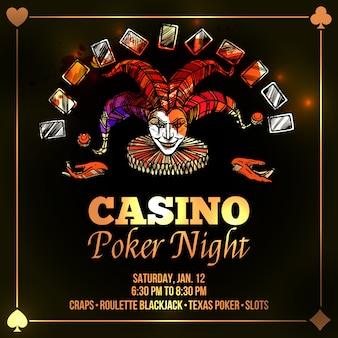 Ilustración de joker poker