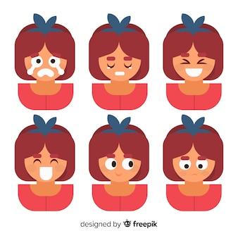 Ilustración de jóvenes con diferentes emociones.