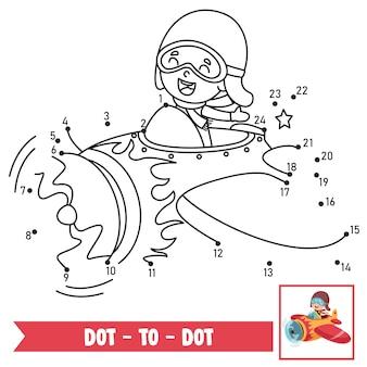 Ilustración del juego de punto a punto para la educación de los niños