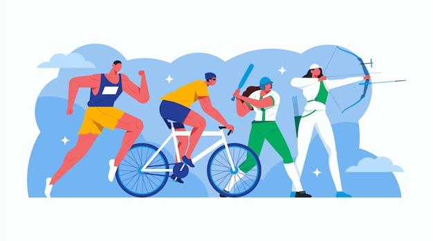 Ilustración de juegos deportivos