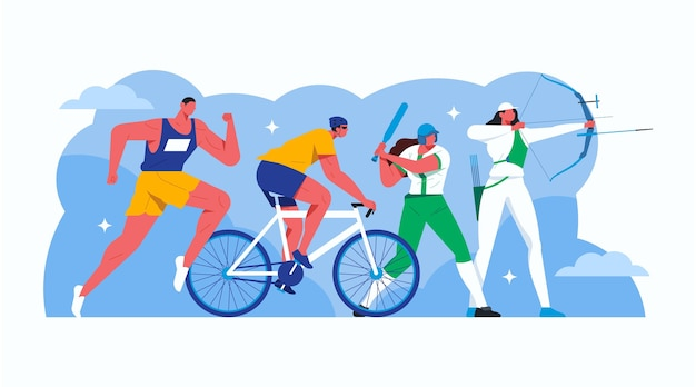 Ilustración de los juegos olímpicos 2021