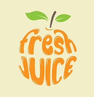 Ilustración de jugo de fruta