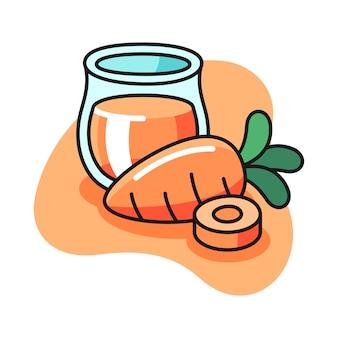 Ilustración de jugo de zanahoria
