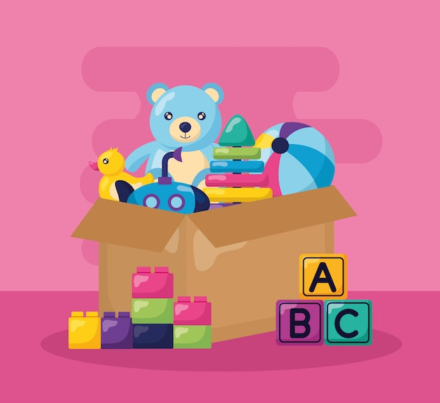 Ilustración de juguetes para niños