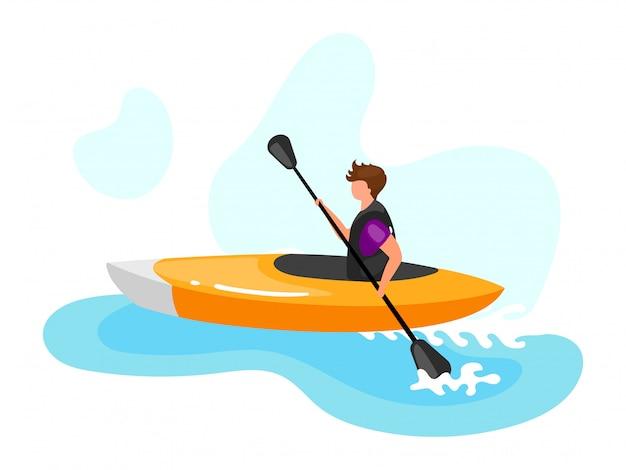 Ilustración de kayak