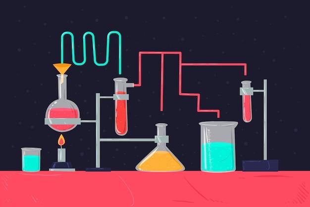Ilustración de laboratorio de ciencias
