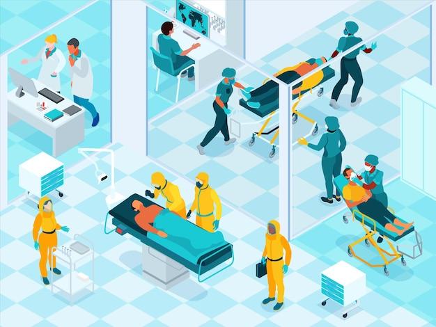 Ilustración de laboratorio de enfermedades infecciosas