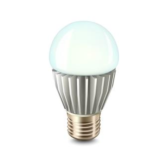 Ilustración de lámpara led de colores con radiador.