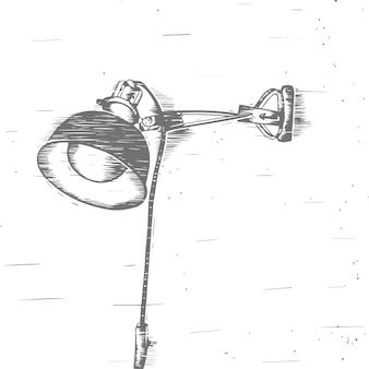 Ilustración de lámpara vintage