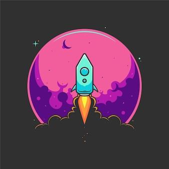 Ilustración de lanzamiento de cohete