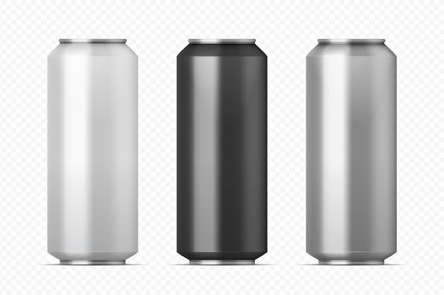 Ilustración de latas de metal realista