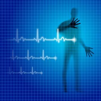 Ilustración de latidos del corazón