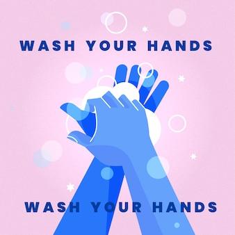Ilustración de lavarse las manos