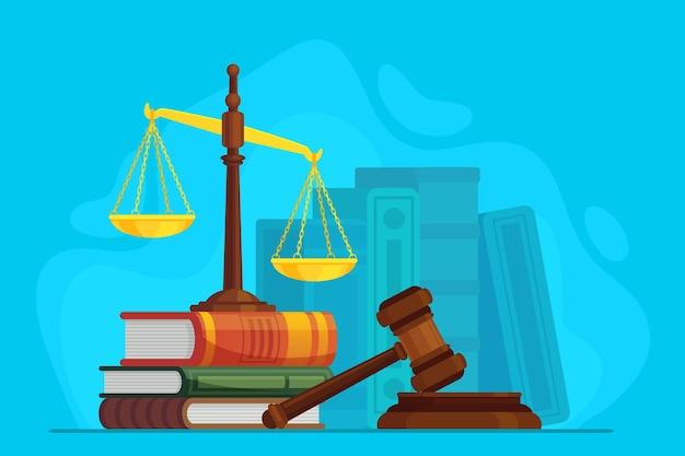 Ilustración de ley y justicia