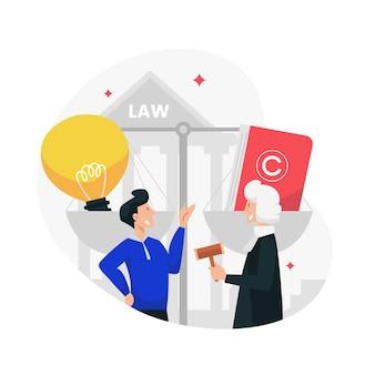 Ilustración de la ley de patentes
