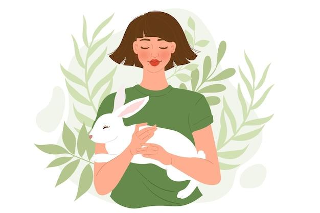 Ilustración libre de crueldad y vegana con carácter.