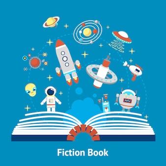 Ilustración de libro de ficción