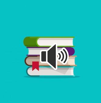 Ilustración de libros de audio
