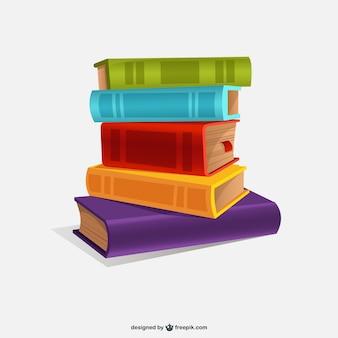 Ilustración de libros de colores vector gratuito