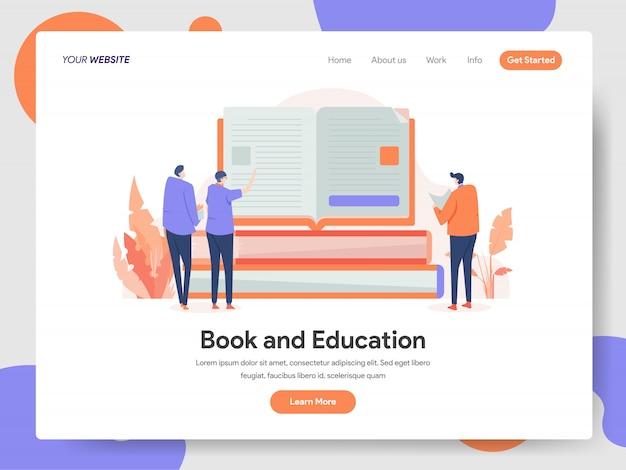 Ilustración de libros y educación
