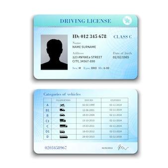 Ilustración de licencia de conducir
