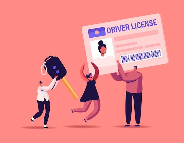 Ilustración de la licencia de conducir