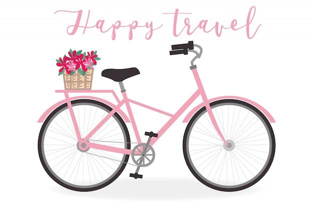 Ilustración linda de la bicicleta para el tema del verano - vector art