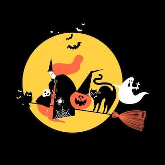 Ilustración linda del concepto del día de halloween