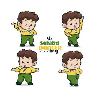 La ilustración linda pequeña bailarina de samba