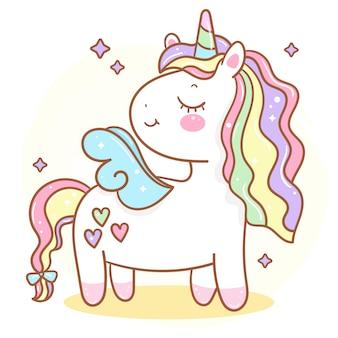 Ilustración linda del unicornio