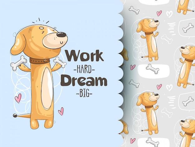 Ilustración con lindo perro de entrenamiento