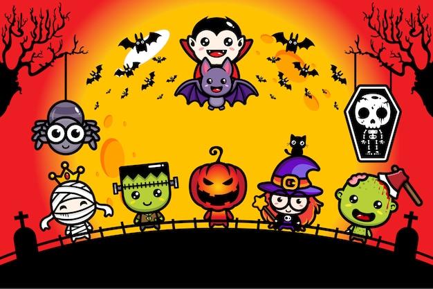 Ilustración de un lindo personaje de halloween