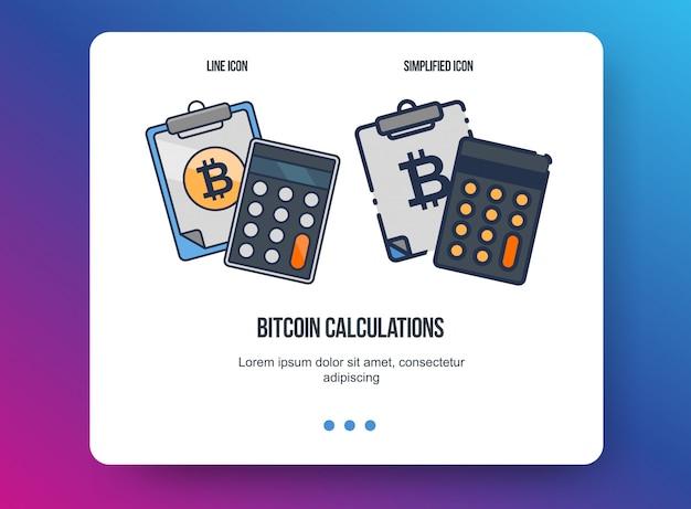 Ilustración de línea plana para web y aplicación. concepto de criptomoneda, tecnologías bitcoin.