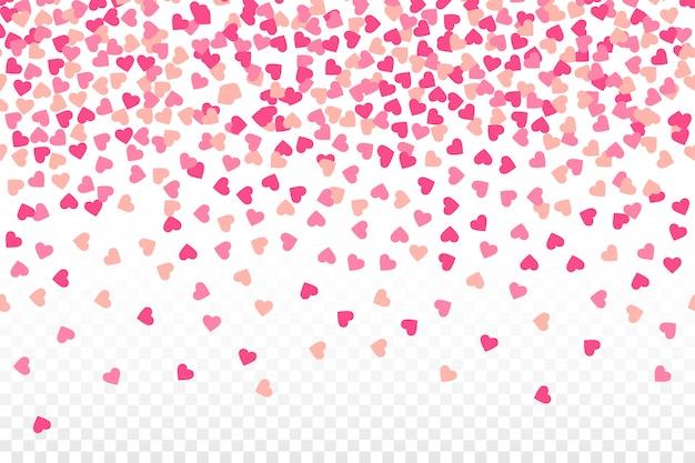 Ilustración de lluvia de corazón de san valentín