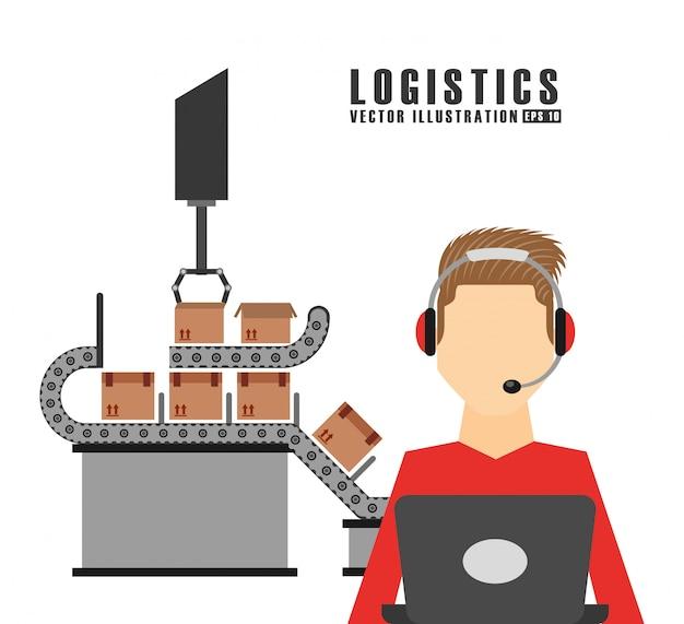 Ilustración de logística de envío