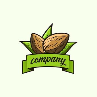 Ilustración del logo de almendras