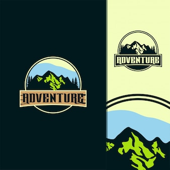 Ilustración de logo de aventura impresionante